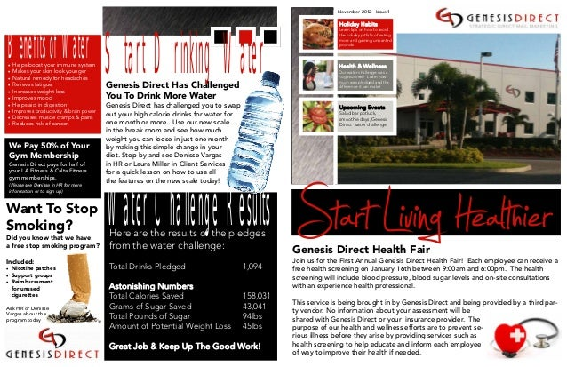 Corporate Health & Wellness Newsletter