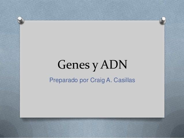 Genes y ADN Preparado por Craig A. Casillas