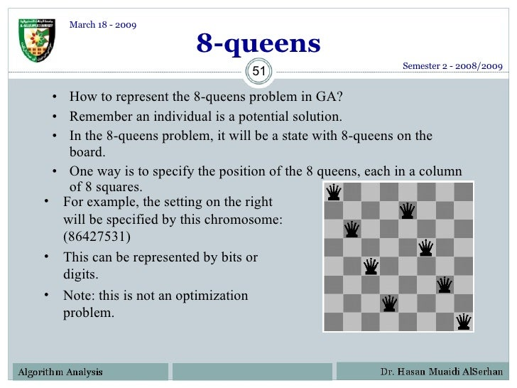 Solving Eight Queens Puzzle With Genetic Algorithm In C