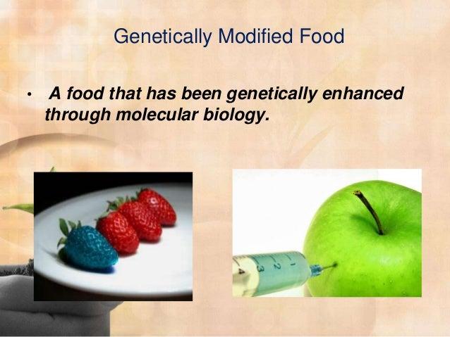 genetically modified foods speech