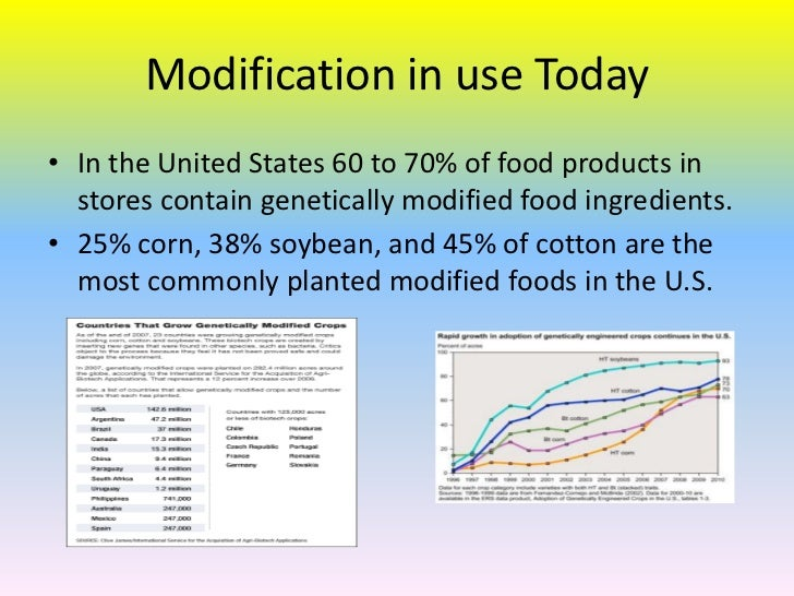 an analysis of the genetically modified products Genetically modified corn: safe or toxic independent analysis of industry-conducted research has revealed potential health risks from eating monsanto's genetically altered among engineered food crops, genetically modified corn is one of the most commonly cultivated photo: istockphoto.