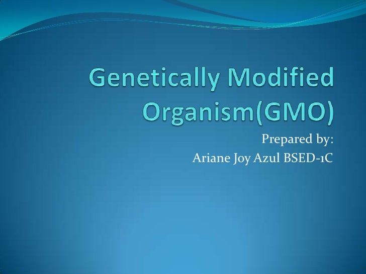 Genetically modified organism(gmo) arinne