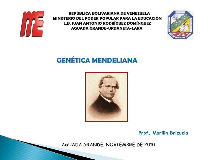 REPÚBLICA BOLIVARIANA DE VENEZUELA MINISTERIO DEL PODER POPULAR PARA LA EDUCACIÓN L.B. JUAN ANTONIO RODRÍGUEZ DOMÍNGUEZ AG...