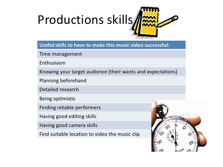 Productions skills<br />