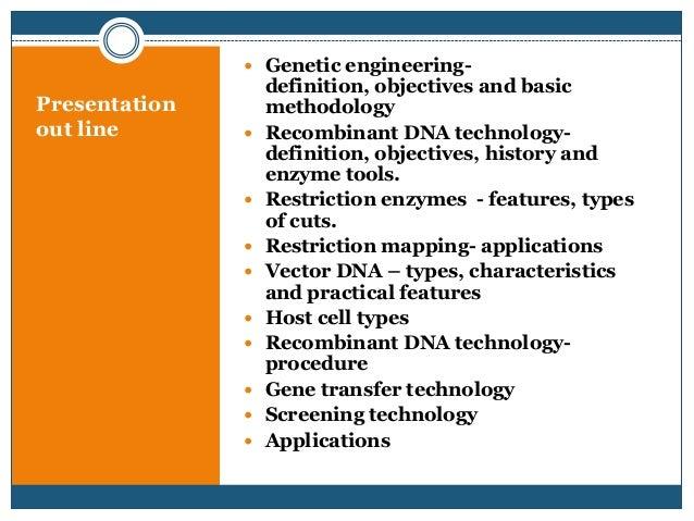 genetic engineering  recombinant dna technology