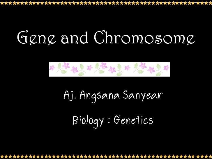 Gene and Chromosome    Aj.    Aj. Angsana Sanyear      Biology : Genetics                           1