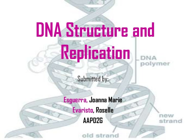 DNA Structure and   Replication        Submitted by:   Esguerra, Joanna Marie      Evaristo, Roselle          AAPD2G      ...