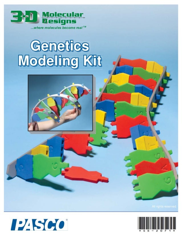 GeneticsGenetics Modeling KitModeling Kit ...where molecules become real TM All rights reserved.