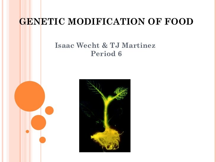 GENETIC MODIFICATION OF FOOD Isaac Wecht & TJ Martinez  Period 6