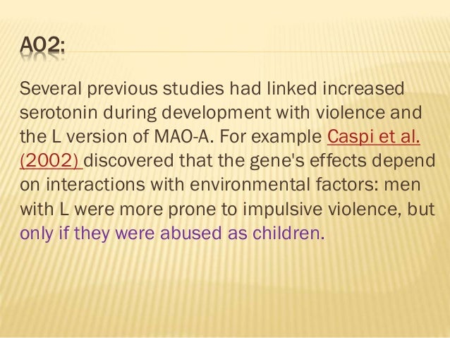 the genetics of violence The genetics of violence introduction we, in the 1990's, are slowly and inevitably being faced with the sociological and biological implications of impending genetic power.