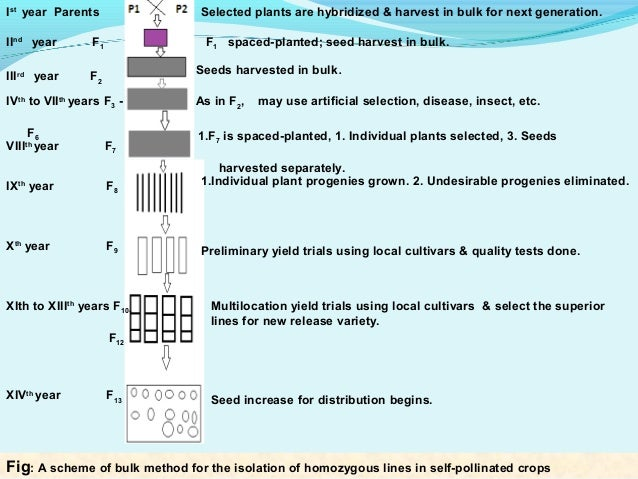 methods of plant breeding The earliest method of plant breeding based on an elementary knowledge of the laws of inheritance has been the selection of plants within landraces, based on the assumption that the progenies of the best individuals are expected to be superior to the progeny of a random sample of the population.