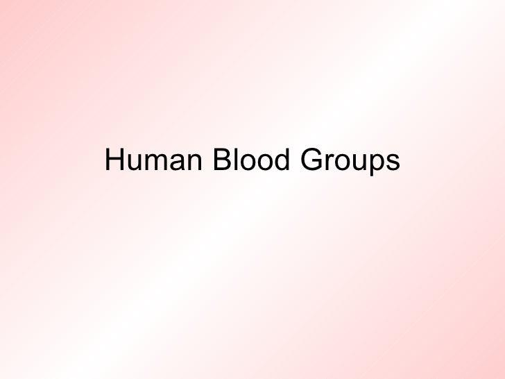 Genetics of human blood groups