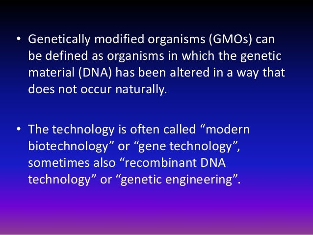 Issues in genetically modified organisms?