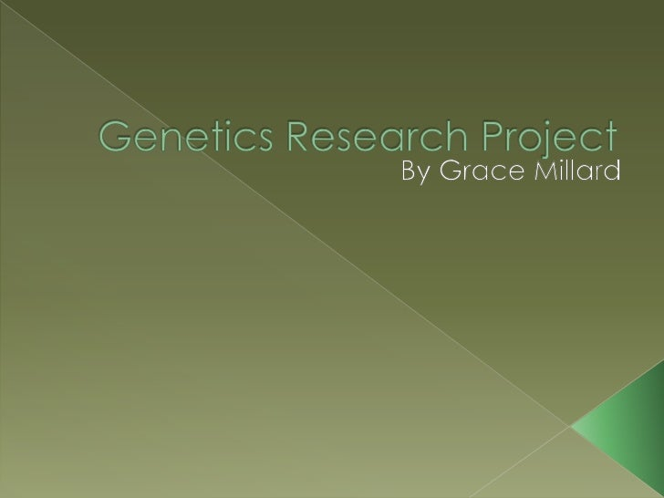 Genetic research paper