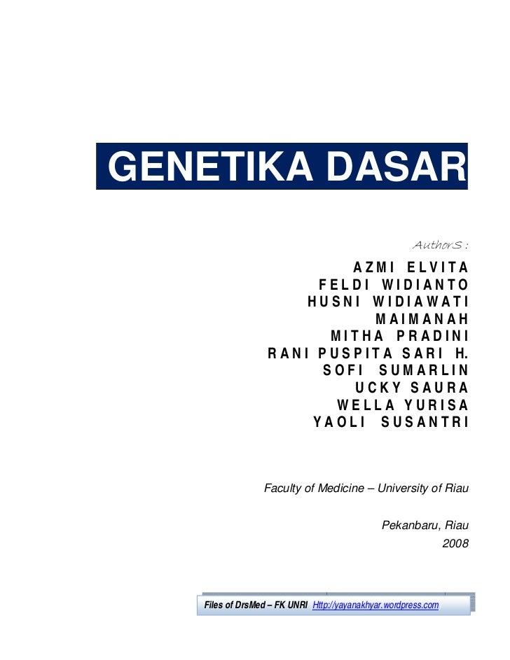 Genetika dasar files-of-drsmed