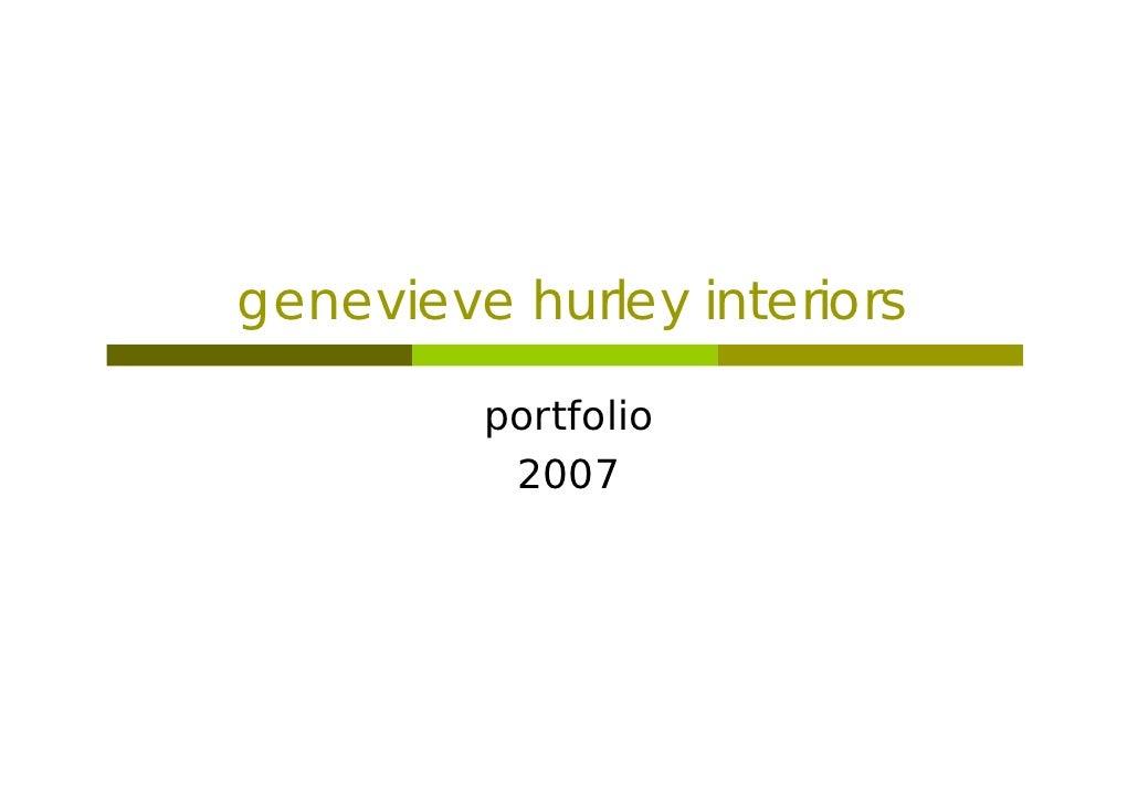 Genevieve Hurley Interiors