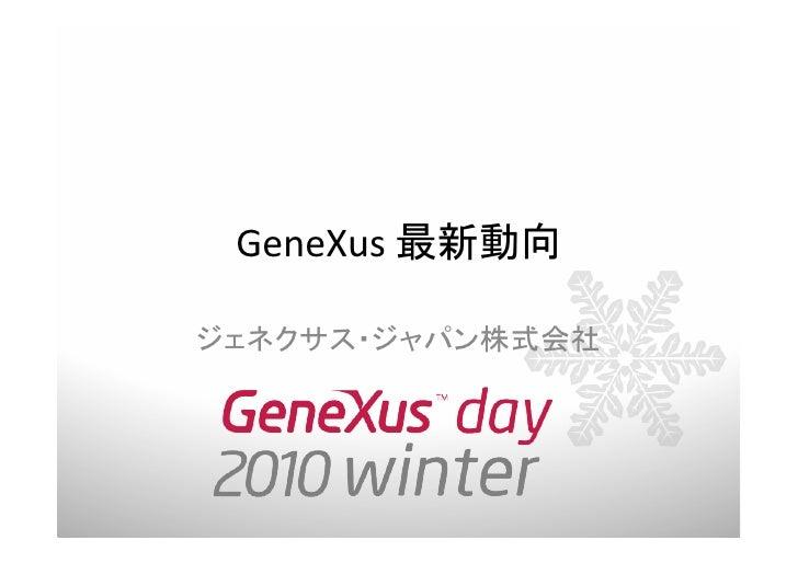 GeneXus Day 2010 Winter