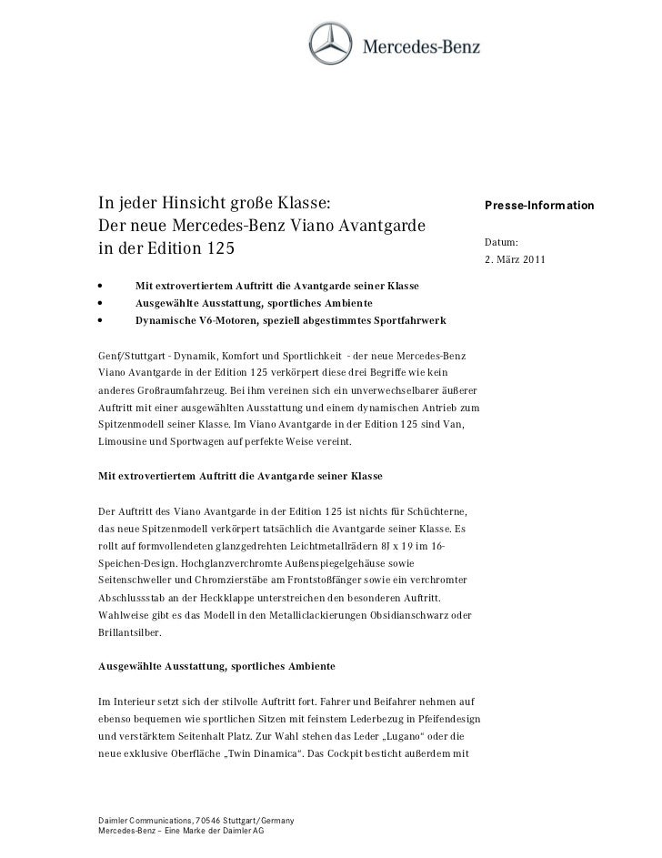 In jeder Hinsicht große Klasse:                                                        Presse-InformationDer neue Mercedes...