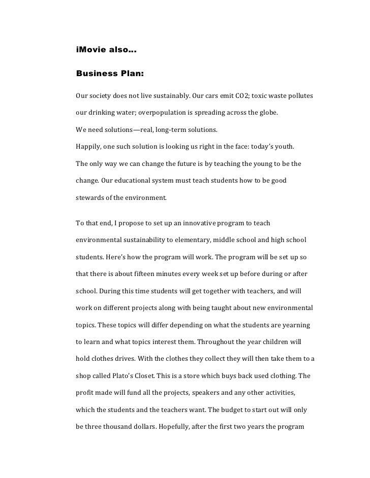 Gen final project #3 business plan