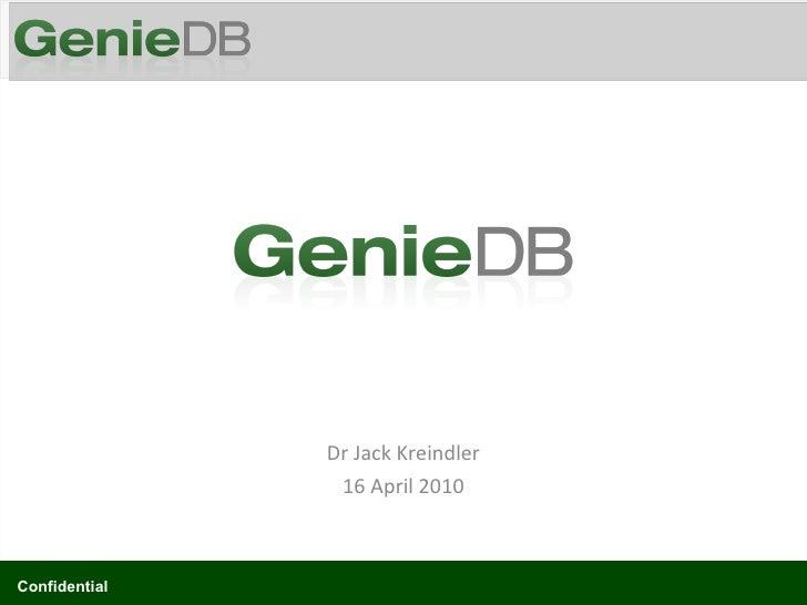 Dr Jack Kreindler 16 April 2010