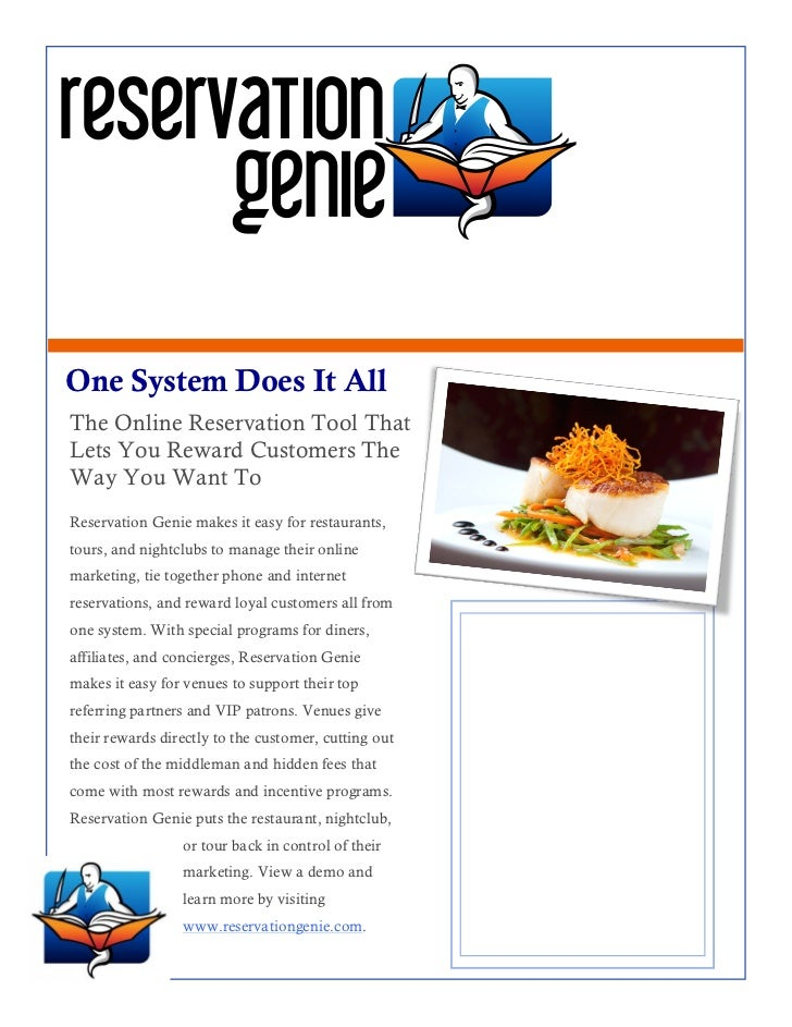 We Are Here To Serve You!One System Does It AllThe Online Reservation Tool ThatLets You Reward Customers TheWay You Want T...