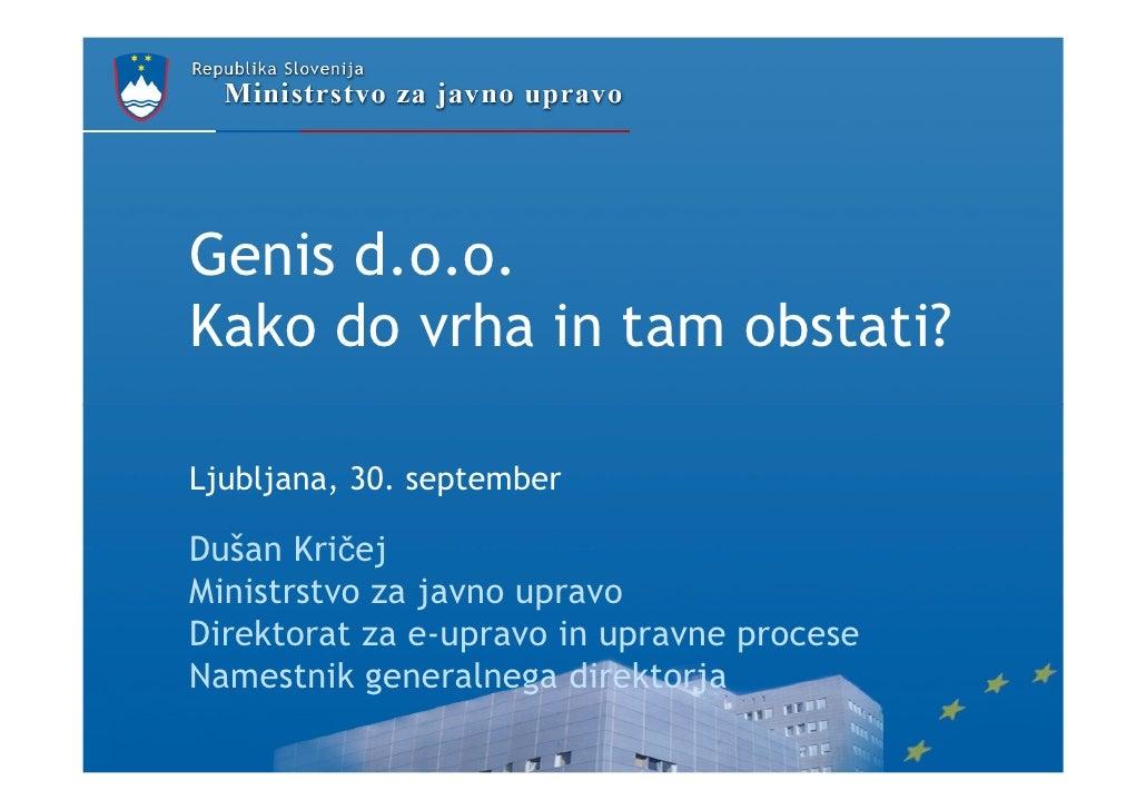 Dušan Kričej - Kako do vrha in tam obstati?