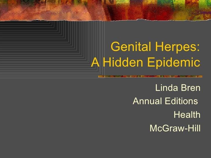 Genital Herpes: A Hidden Epidemic Linda Bren Annual Editions  Health McGraw-Hill