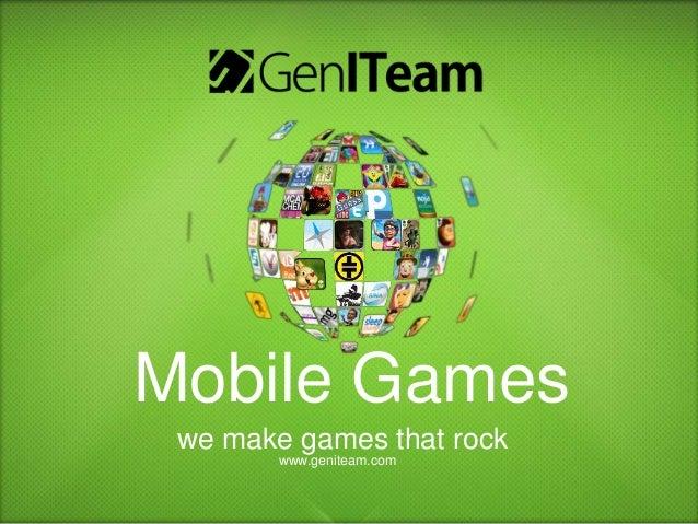 GenITeam - Mobile Games