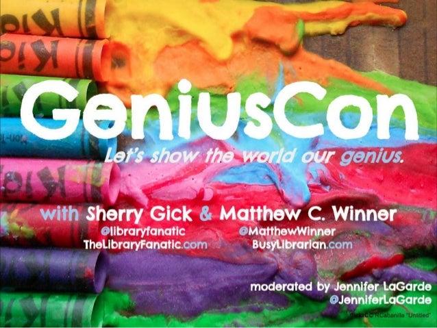 GeniusCon TL Virtual Webinar (Feb 2014)