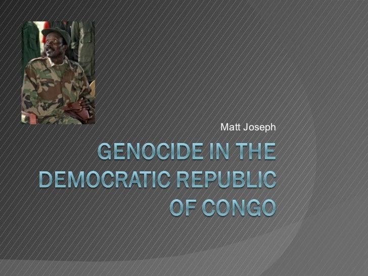 Genocide in the democratic republic of congo[1]
