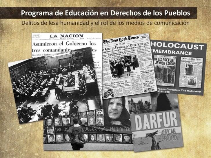Programa de Educación en Derecho de los Pueblos
