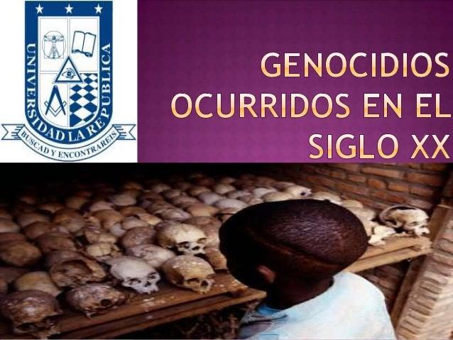 Genocidios ocurridos en el siglo xx
