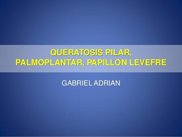 QUERATOSIS PILAR, PALMOPLANTAR, PAPILLON LEVEFRE GABRIEL ADRIAN