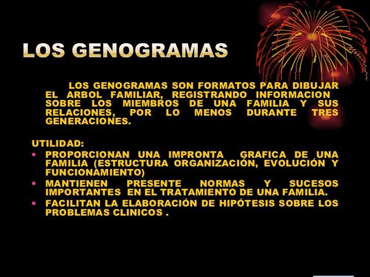 <ul><li>LOS GENOGRAMAS SON FORMATOS PARA DIBUJAR EL ARBOL FAMILIAR, REGISTRANDO INFORMACION  SOBRE LOS MIEMBROS DE UNA FAM...