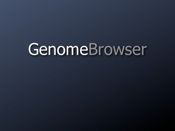 GenomeBrowser