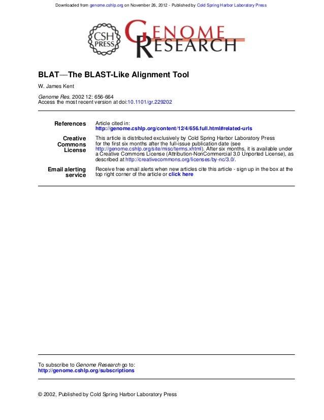Genome res. 2002-kent-656-64