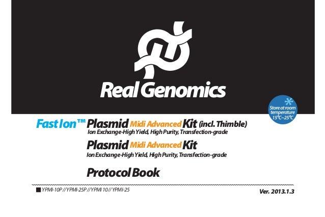 Fast Ion™ Plasmid Midi AdvancedTransfection-grade Kit (incl. Thimble) Ion Exchange-High Yield, High Purity, Plasmid Midi A...