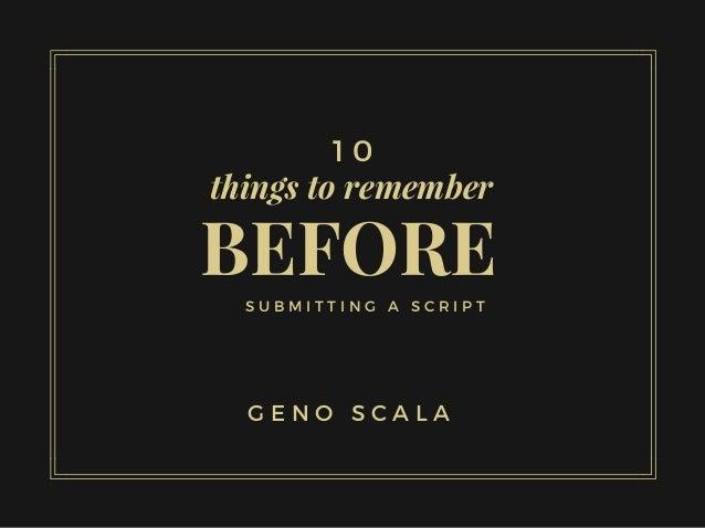 Good ways in remembering a script?