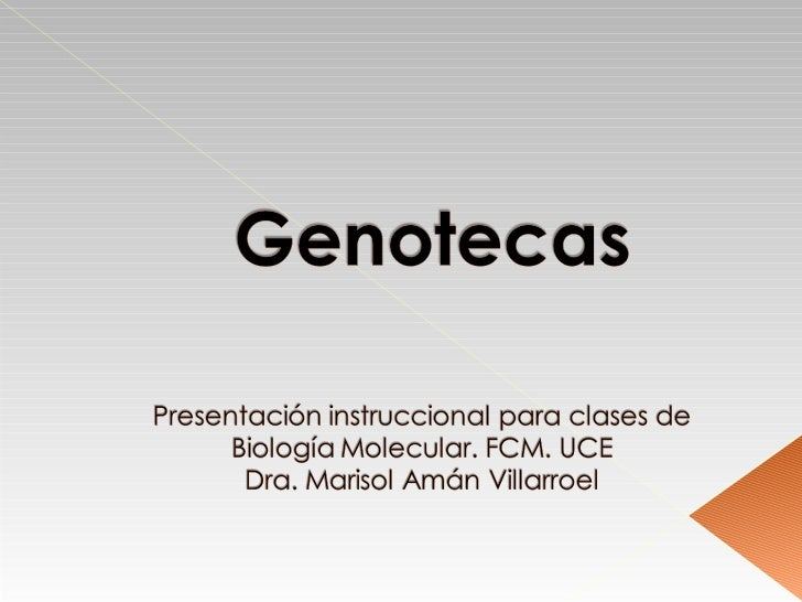 Bibliotecas   de genesLibrerías   genómicas