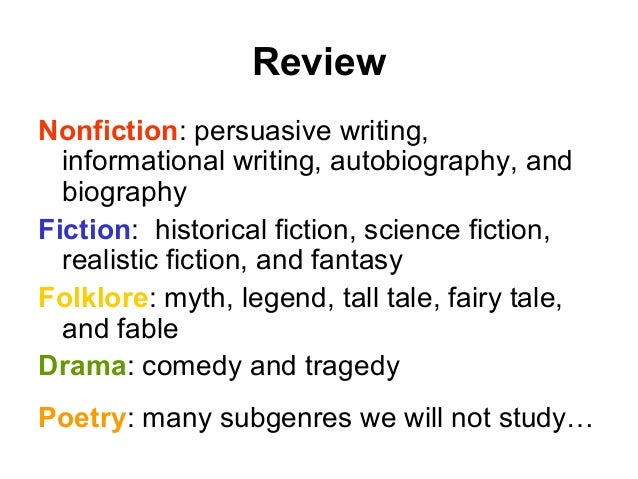 literary genre 3 essay Are you looking for a genre quiz to test your students' understanding of literary genre and subgenre look no further this quiz will help you evaluate how well your students understand fiction, nonfiction, folklore, drama, and the various subgenres.