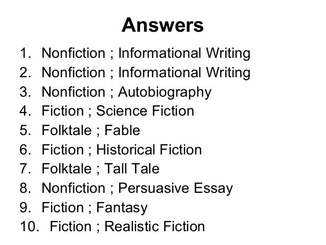 Essay genres types