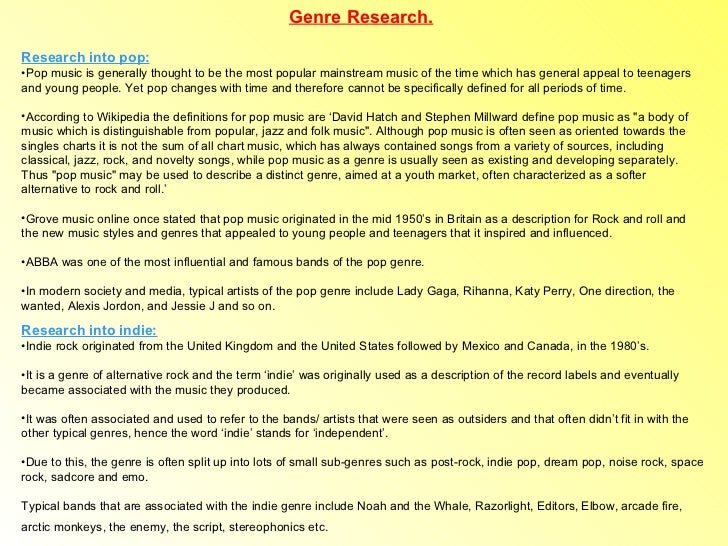 Genre research