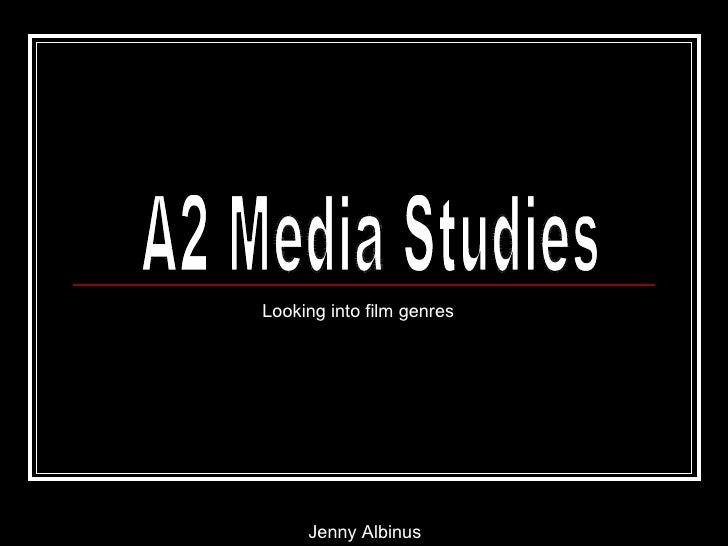 Looking into film genres     Jenny Albinus
