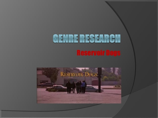 Reservoir Dogs essay topic?