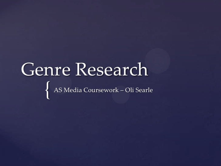 Genre research summary