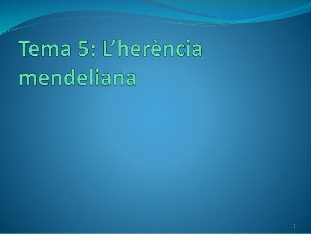 Genètica mendeliana