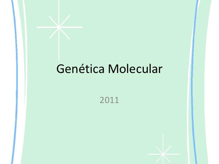 Genética Molecular<br />2011<br />
