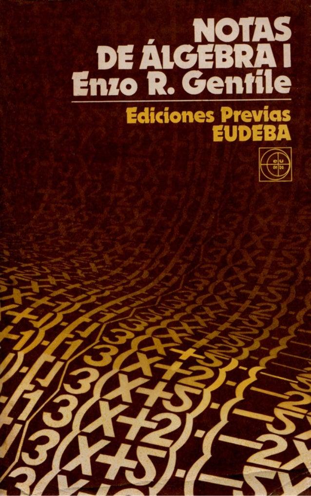 NOTAS DE ALGEBRA I