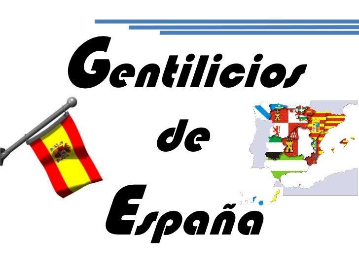 Gentilicios de España