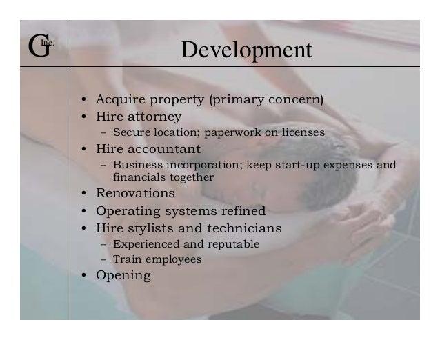 Business plan property development